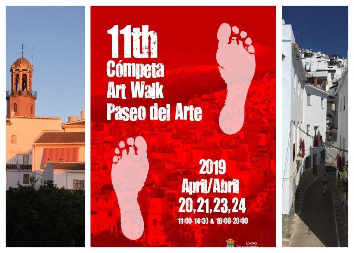 Walk Cómpeta 2019 in preparation! Art Walk Cómpeta 2019 en preparación!