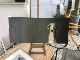Didn`t meet this dog, painting by J.Sánchez Zabaleta