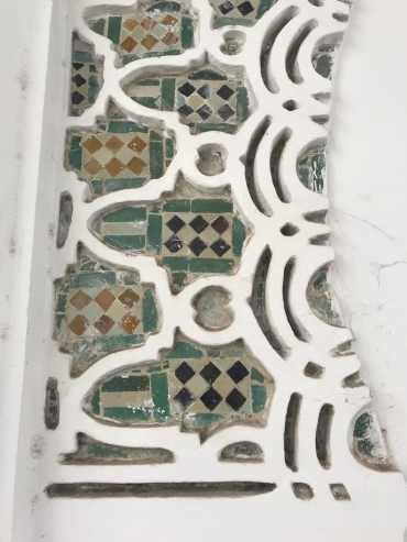 on a mosque