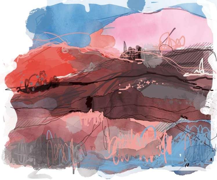 Death Valley inspired digital printing series