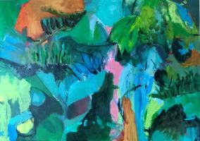 Many shades of green 70x50x04 cm