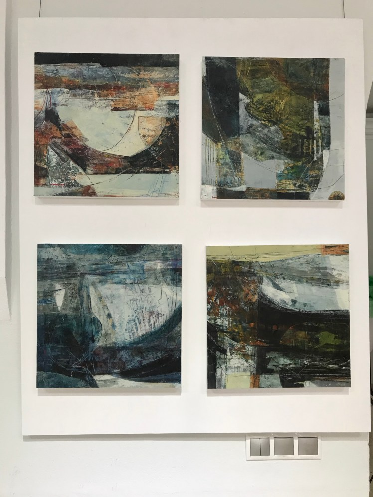 Sally Hirst's four paintings
