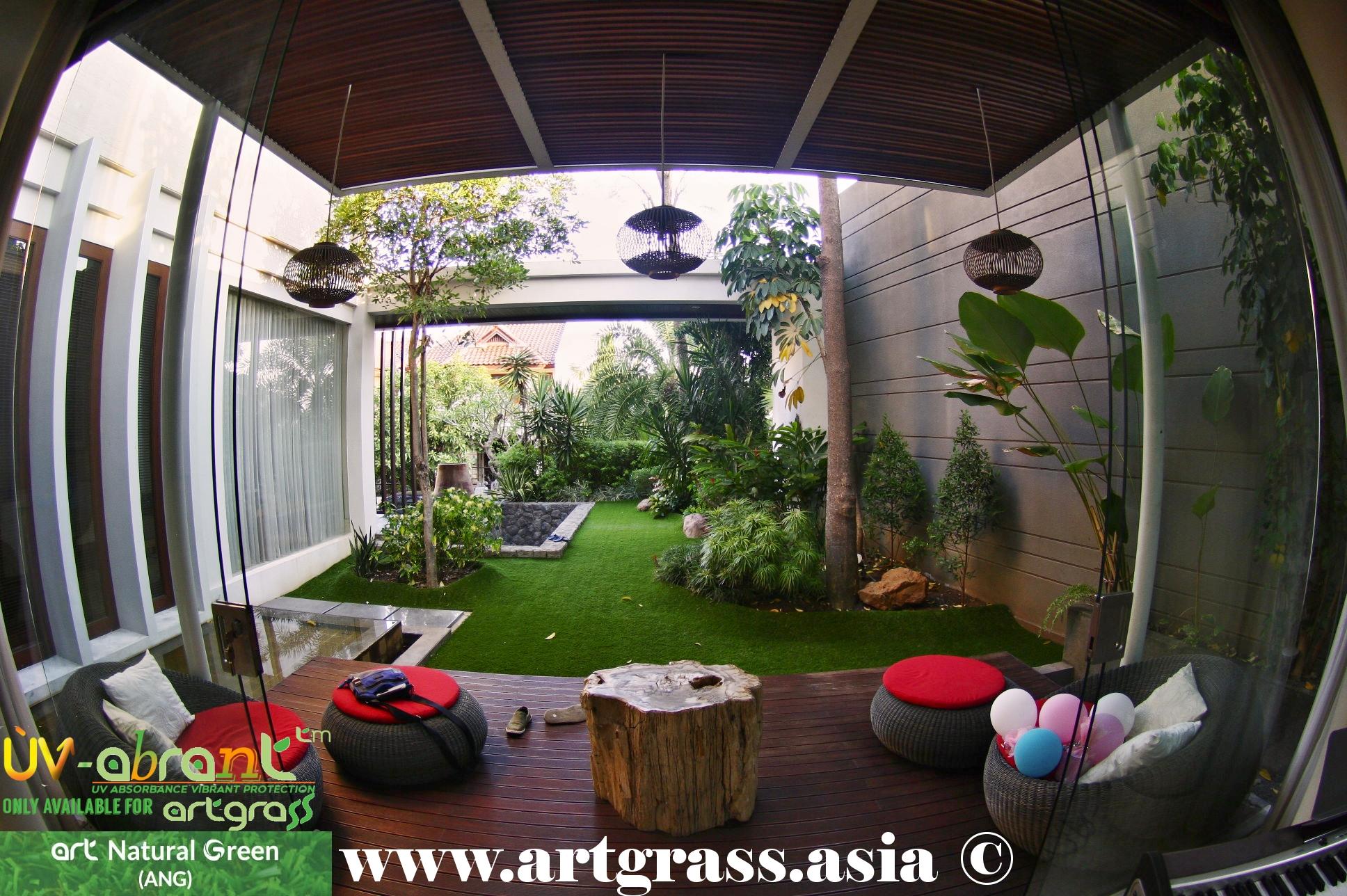 Desain Taman Rumput Sintetis Inspirasi Desain Rumah Dan