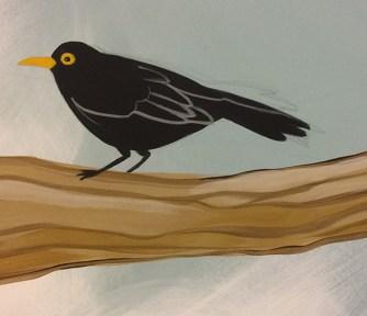 A blackbird - he gets a little more detail later