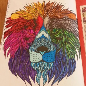 Lion coloré
