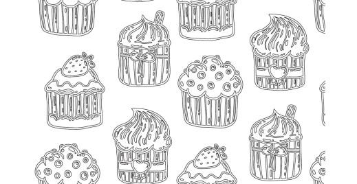 Coloriage gratuit cupcake du 24 avril