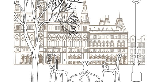 Coloriage gratuit, pause café parisien