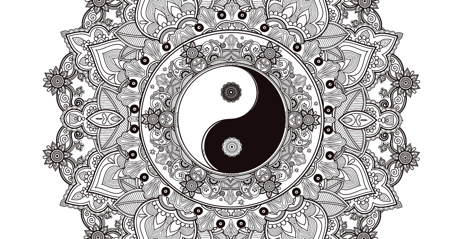 Coloriage gratuit, mandala zen, yin yang - Artherapie.ca