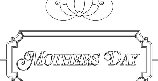 Coloriage gratuit, Bonne fête des mères 8 mai