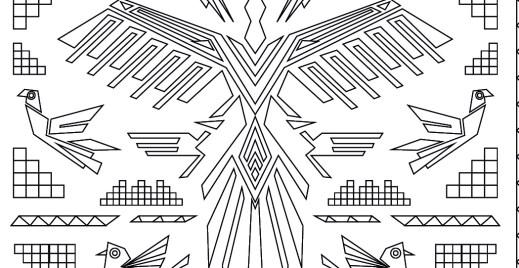 Coloriage gratuit, tapisserie Nazca