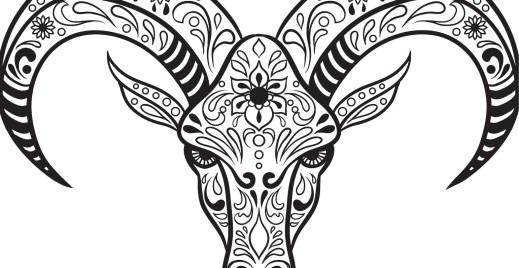 Coloriage gratuit, crane de chèvre 15 mai