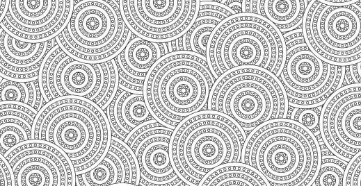 Coloriage gratuit, pattern ronds