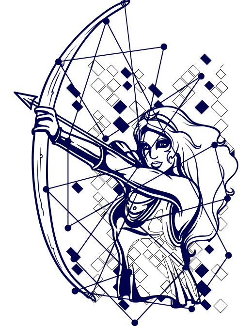 Coloriage gratuit, astrologie, constellation archer