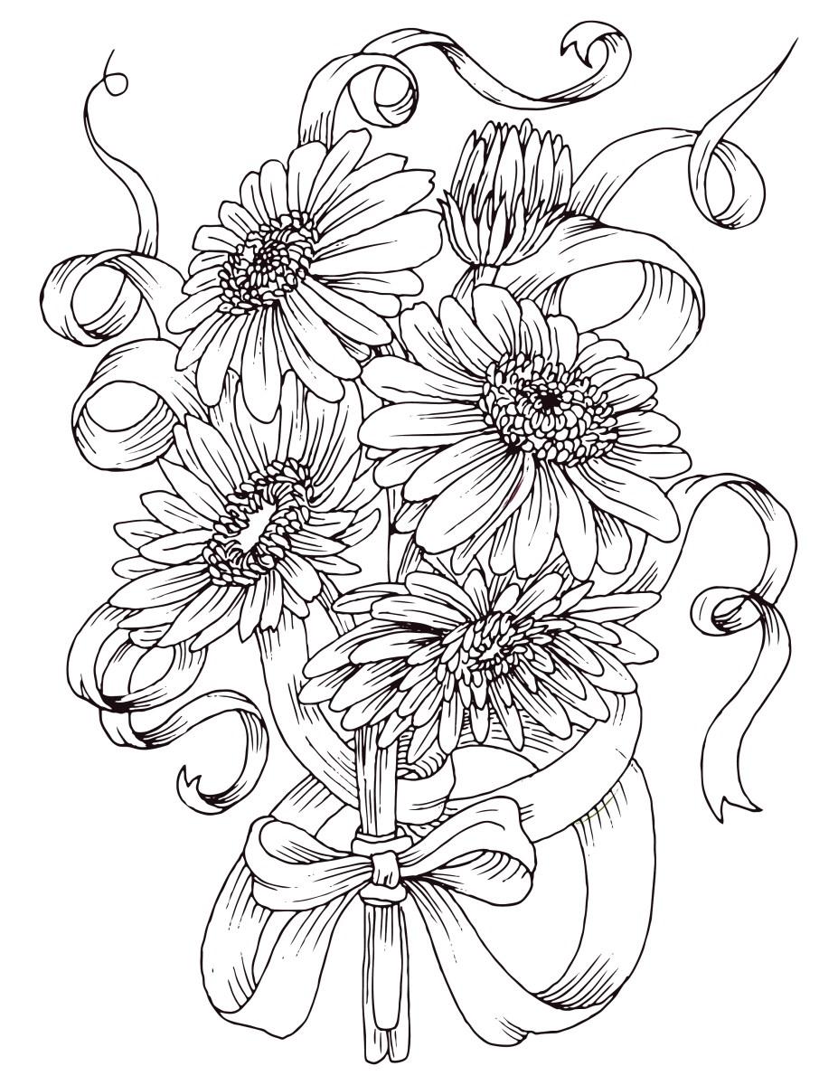 Coloriage Gratuit Fleurs Marguerites Artherapie Ca