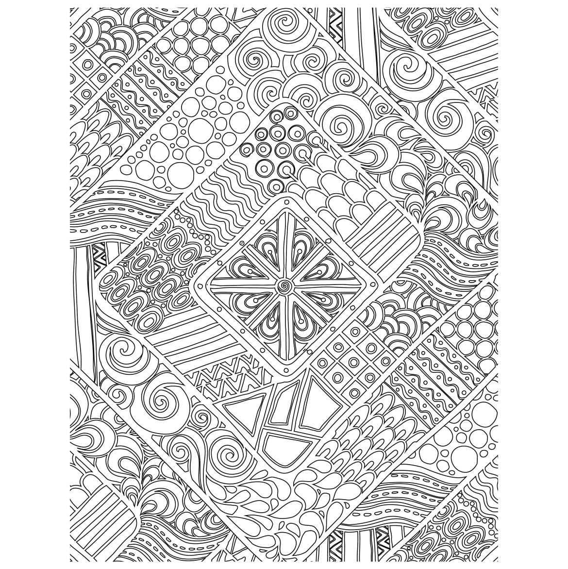 Coloriage gratuit, doodle géométrique