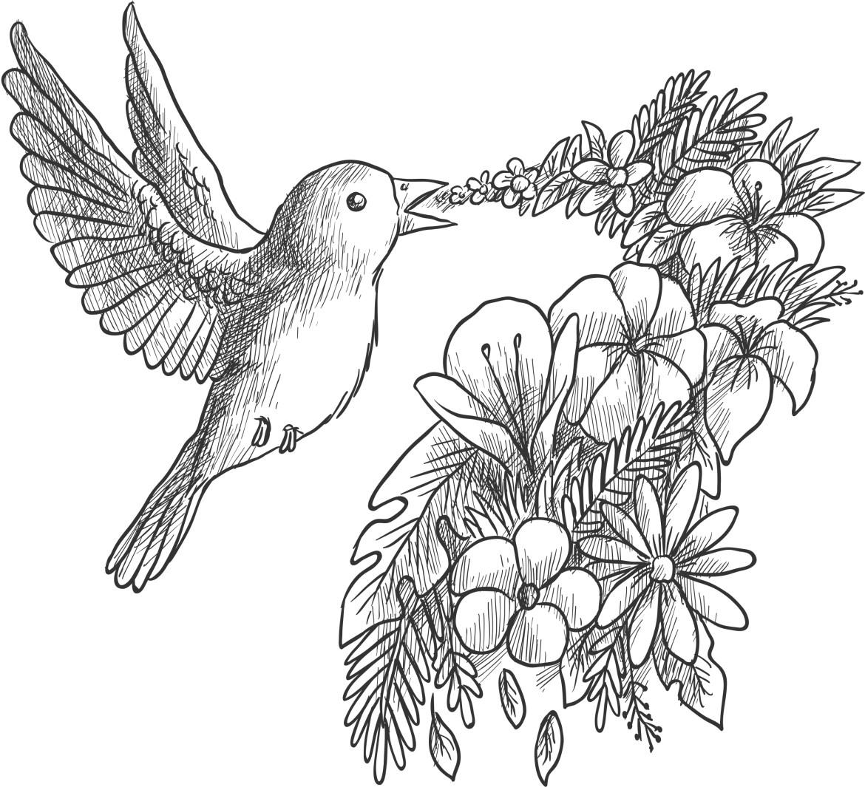 artherapie coloriage gratuit freepik grayscale bird
