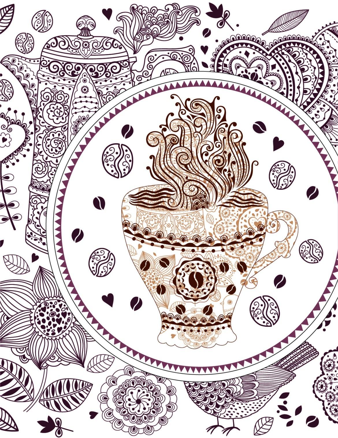 coloriage de Journée internationale du café