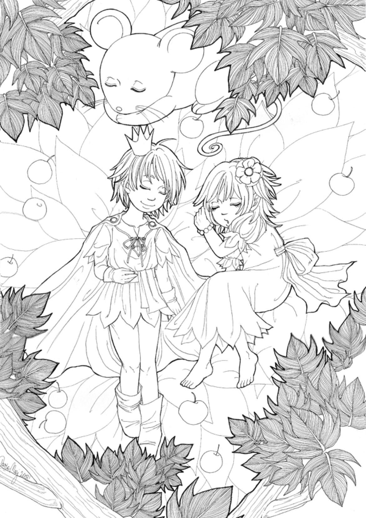 Coloriage à imprimer par Dar-Chan, automne