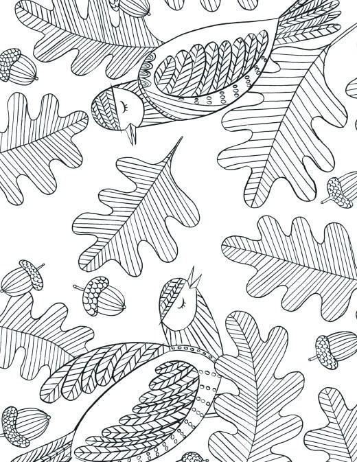 imprimer coloriage oiseaux automne