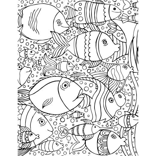 coloriage de poisson offert gratuitement