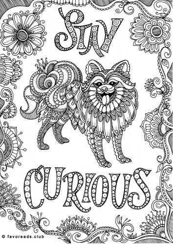 imprimer coloriage de chien stay curious