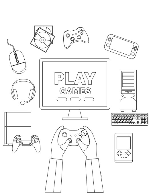 Coloriage anti stress PlayStation VR