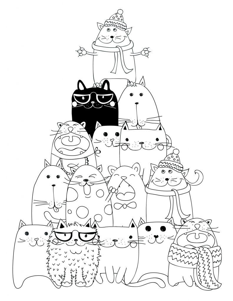 dessin imprimer pyramide chat coloriage artherapie ca CA Lo dessin imprimer pyramide chat coloriage