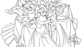 Coloriage De Princesse Disney Gratuit A Imprimer Artherapie Ca
