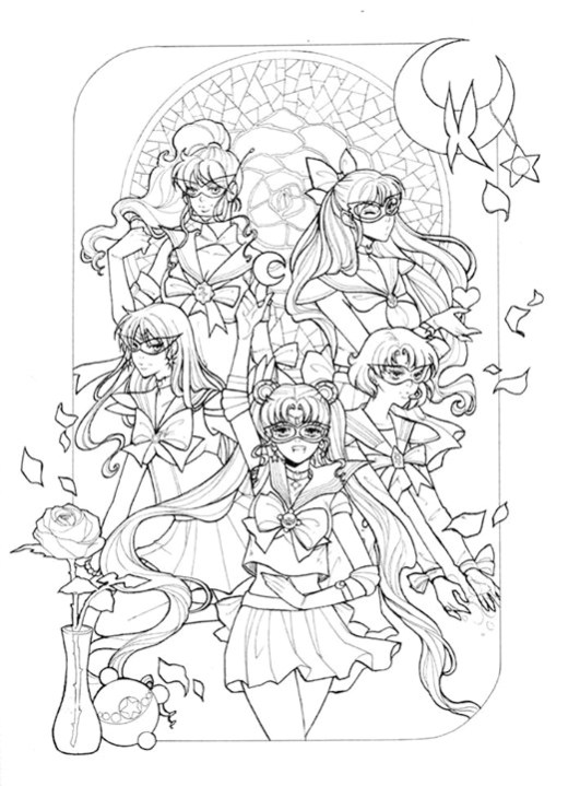 Coloriage de Sailor Moon par Dar-Chan