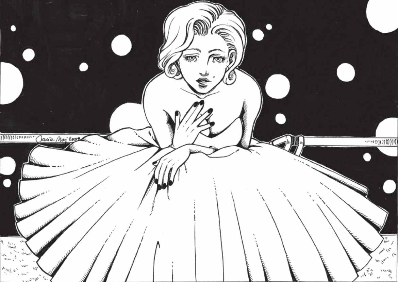 imprimer coloriage de Madonna vintage
