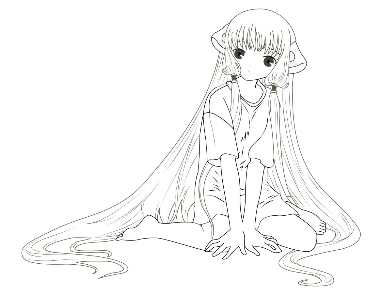 Coloriage personnage fillette manga gratuit - Manga adulte gratuit ...