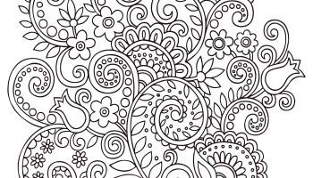 coloriage de bulldog doodle chien anti stress artherapie ca