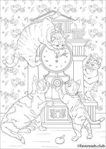 dessin à imprimer mignons chatons