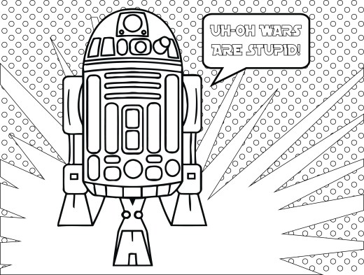 Star Wars Fall of the Resistance Coloriage R2D2