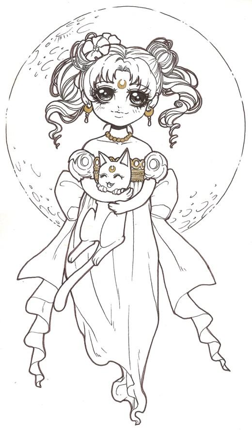 coloriage de Dar-Chan Sailor Moon serenity