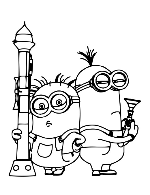 download minion rush coloriage à imprimer