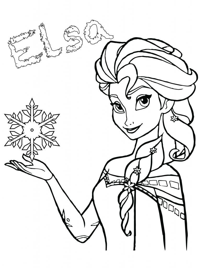 Coloriage A Imprimer Princesse Elsa.Elsa Disney Frozen Coloriage De Princesse Gratuit