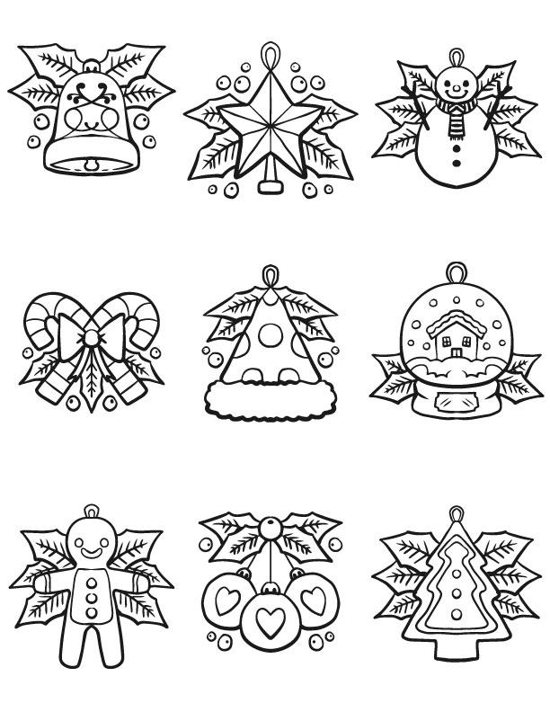 décorations de noel pretes à imprimer