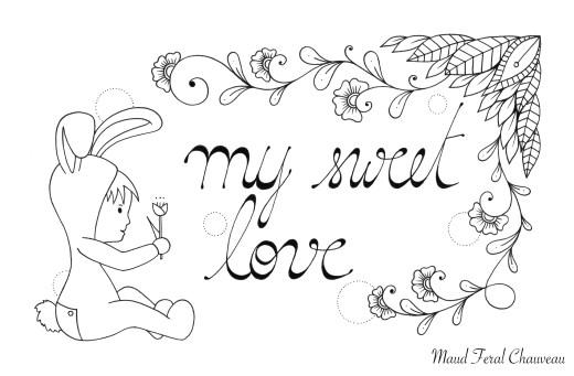 Adorable carte de saint valentin par Maud Feral