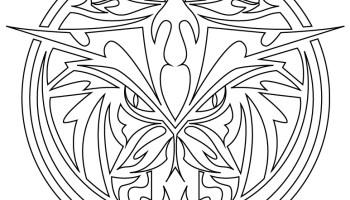 Mandala Tattoo Tribal Loup A Imprimer Gratuit Artherapie Ca