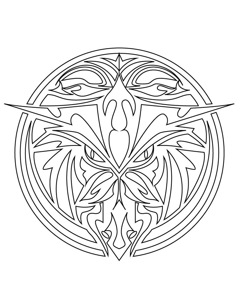 Coloriage A Imprimer Mandala Animaux.Mandala Animaux Tatouage A Imprimer Artherapie Ca