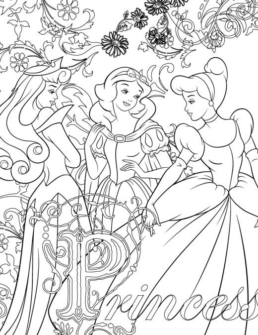 Coloriage Disney de princesse à imprimer