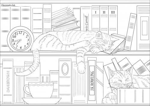 Chat dessin gratuit à imprimer et colorier