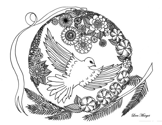 Coloriage animaux colombe par Leen Margot