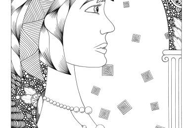 Visage profil personnage par Maud Feral