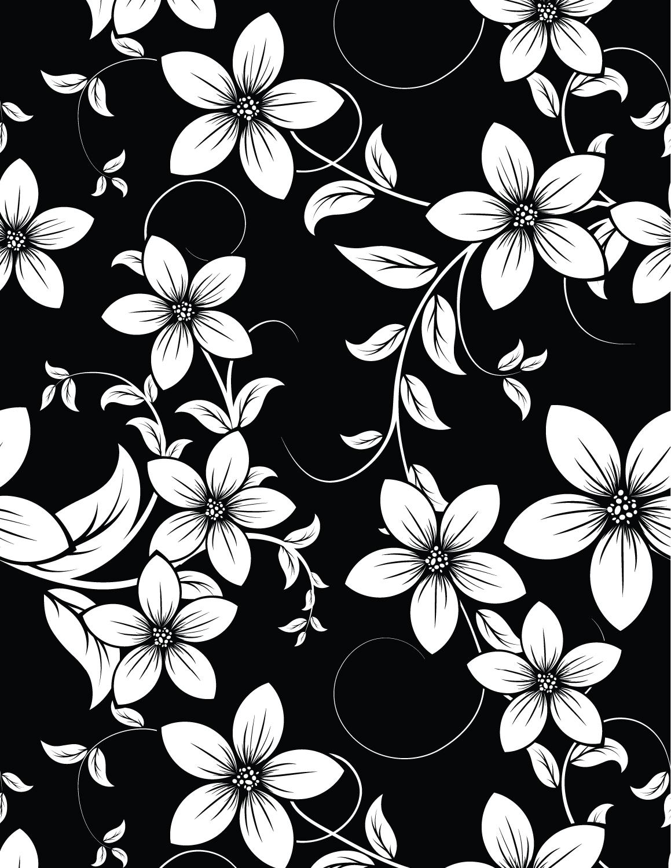 Dessin Fleurs Fond Noir à Imprimer Artherapieca