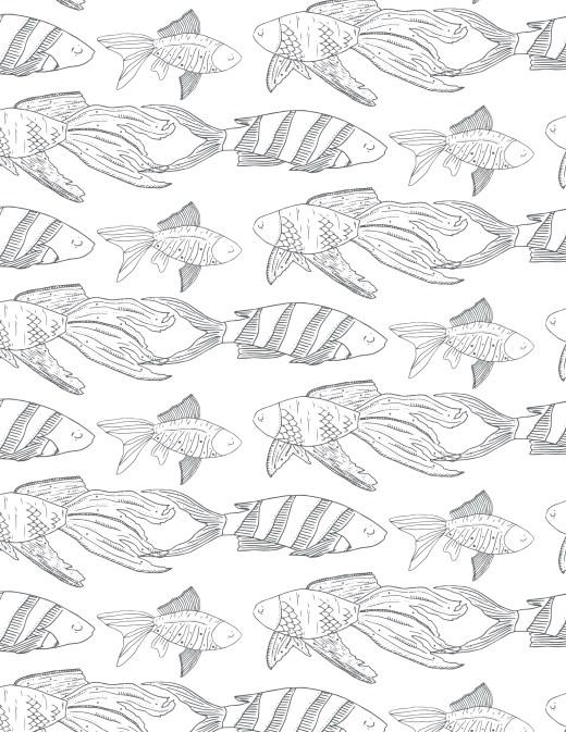 Poisson de la mer à colorier gratuitement