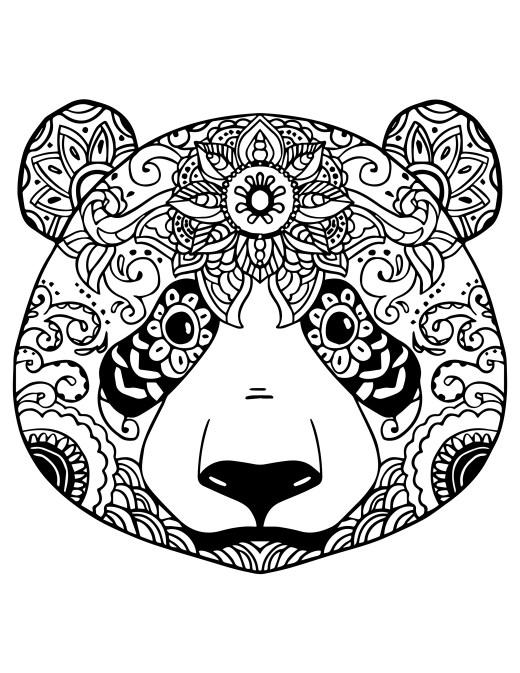 Coloriage gratuit adorable panda à colorier