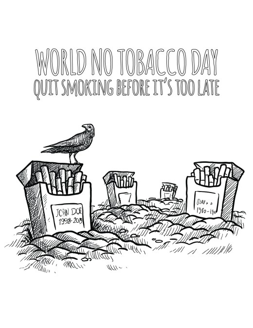 Coloriage à imprimer journée internationale sans tabac