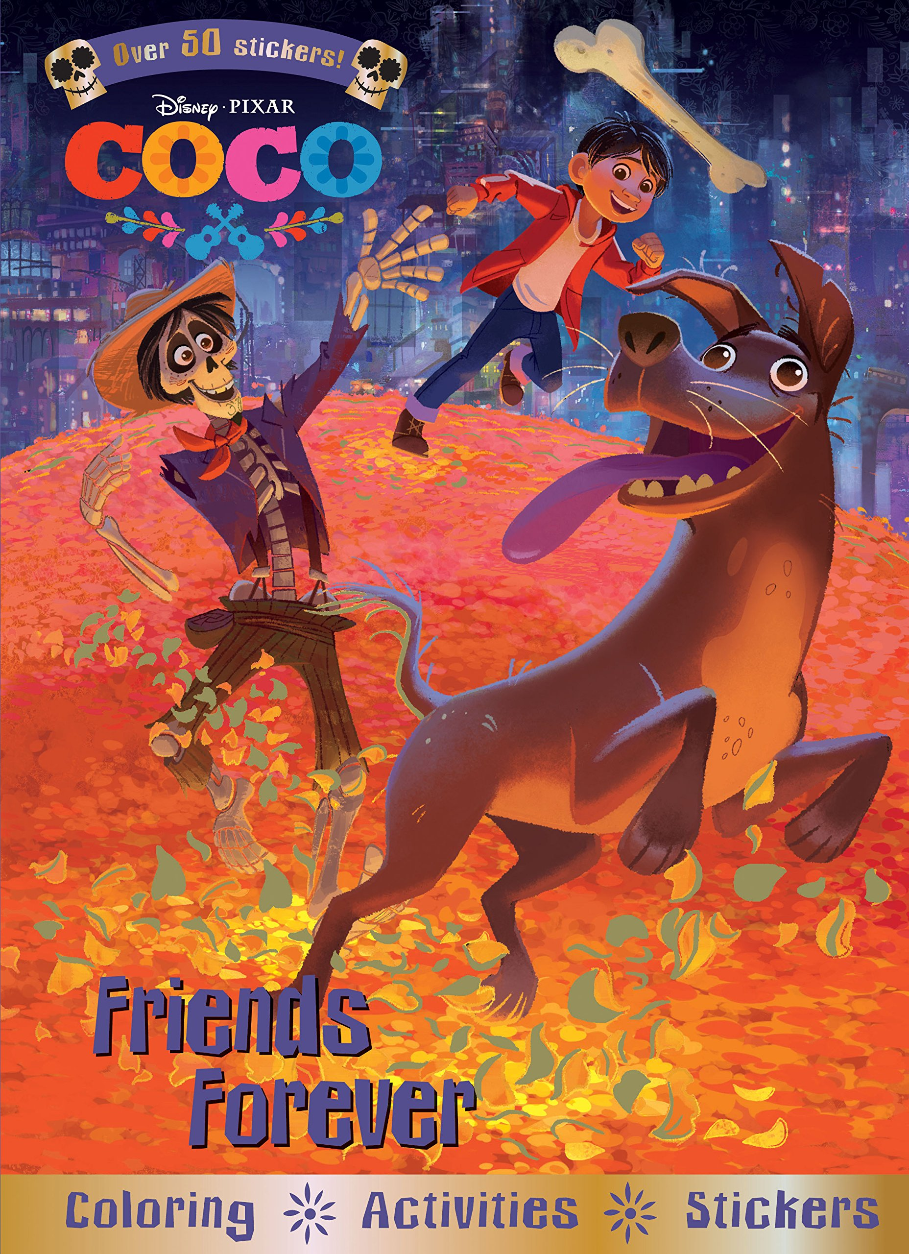 coco friends forever coloring activities and stickers